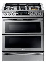 Samsung Cooktops Electric Samsung 30 In 5 8 Cu Ft Slide In Dual Door Double Oven Dual