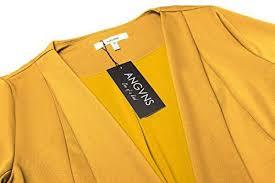 acevog women u0027s long sleeve open front asymmetrical hem casual