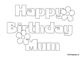 happy birthday grandma coloring page funycoloring