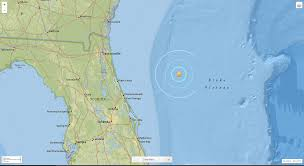 Florida Coast Map Earthquake Off Fla Coast Actually U0027experimental Explosion U0027 By