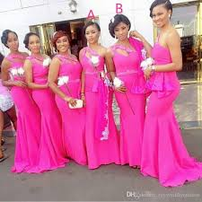fuschia bridesmaid dress fuchsia mermaid south africa bridesmaid dresses 2017 plus size one