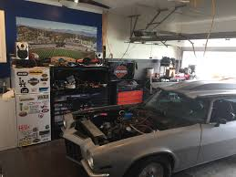 Big Car Garage by My So Cal 2 Car Detached Harley Drag Racing Man Cav Garage The