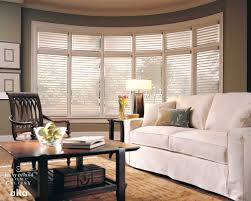 Wide Window Curtains by Wide White Horizontal Blind Window Treatment Idea For Large Window