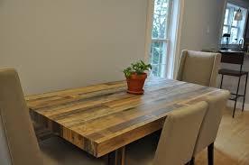 design interesting reclaimed wood dining room table stunning