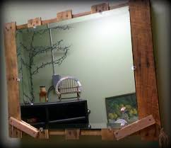 pallet home decor rustic pallet mirror 101 pallets