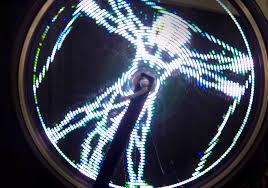 Monkey Bike Lights Spinning Wheel Lights Make A Rolling Screen Wired