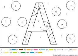 coloriage à dessiner magique lettre à imprimer