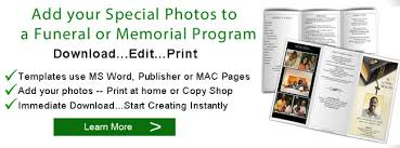 Where To Print Funeral Programs Funeral Program Pictures Photos For Funeral And Memorials