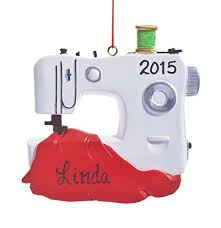 personalized sewing machine ornament home kitchen