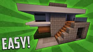 minecraft how to build a small modern house tutorial 4 youtube