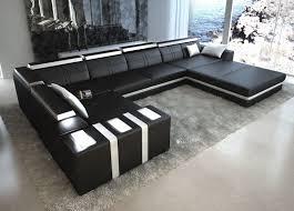 couch u form ledersofa asti u form sofa mit licht wohnlandschaft ecksofa ebay