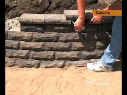 capping a small retaining wall youtube