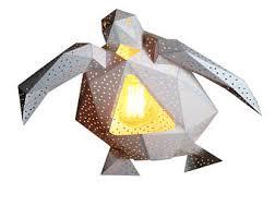 Paper Lantern Pendant Light Sea Turtle Paper Lantern Geometric L Modern Pendant