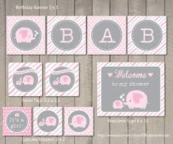 pink elephant baby shower home design