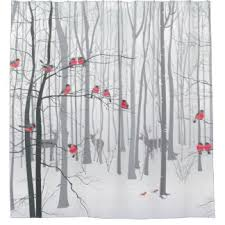 Bird Shower Curtains Winter Bird Shower Curtains Zazzle