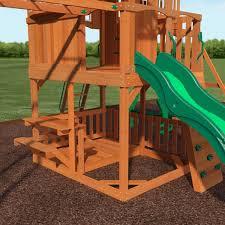 Backyard Discovery Montpelier Cedar Swing Set Backyard Discovery Skyfort Ii All Cedar Swingset Free Shipping