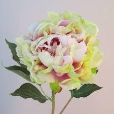 Artificial Peonies Peony Flowers Pink Green P011 K1