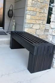 Outdoor Wood Bench Diy by Ana White Build A Modern Slat Top Outdoor Wood Bench Free And