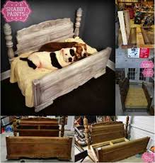 diy bed frame upcycled to gorgeous pet bed do it yourself ideas - Diy Shabby Chic Pet Bed