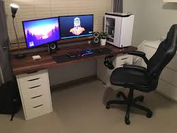 Gaming Desk Ikea Generic Ikea Setup V2 Battlestations