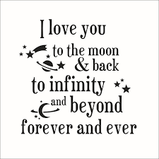 i you to the moon and back quotes wall stickers arrivals