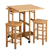 Small Kitchen Table With Bar Stools by Amazon Com Winsome Wood Table Drop Leaf Square Stool Natural