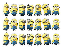 minions cake toppers despicable me minions edible cake strips cake topper
