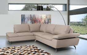 Sectional Sofa Casa Peony Modern Grey Eco Leather Sectional Sofa