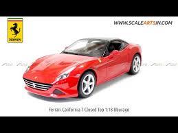 california model car california t closed top 1 18 bburago diecast scale model