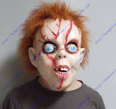 chucky mask scary chucky mask with hair in party masks from home garden on