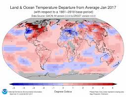 temperature map usa january global climate report january 2017 state of the climate