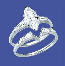 marquise cut diamond ring platinum plated sterling silver wedding set 1 25 carat marquise