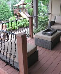 Outer Staircase Design Exterior Metal Staircase Wood And Wrought Iron Outdoor Stairs