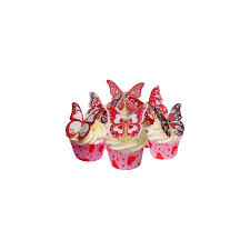 cda products valentine print edible butterfly topper pack of 12