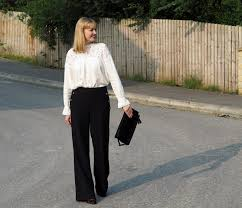 the marks and spencer autumn collection wide legged trousers
