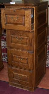 Solid Wood Filing Cabinets by Solid Oak Filing Cabinet 4 Drawer Bar Cabinet