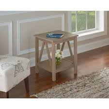 linon home decor titian rustic gray end table 86153gry01u the