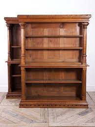 furniture home gothic style oak bookcases 1900s set of design