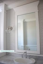 powder room mirrors hanging leather mirror white cottage