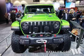 jeep green 2017 2017 la auto show mojito green jeep jl wrangler rubicon unlimited