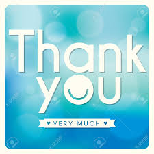 Thank You Card Designs Thank You Card Design On Blue Background Royalty Free Cliparts
