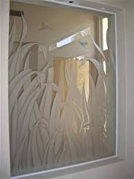 Home Design For Windows Etched Glass Interior Window Featuring 3d Carved Reeds With