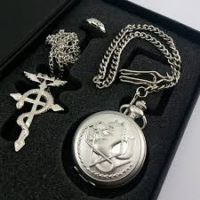 anime ring necklace images Fullmetal alchemist pocket watch necklace ring edward elric anime JPG