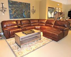 Leather Recliner Sectional Sofa Outstanding Recliner Sectional Sofas Reclining With Cup Holders