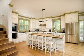 love the crown molding painted with accent color contemporary