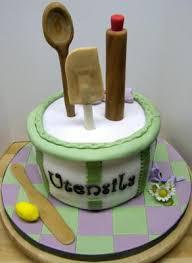 kitchen shower ideas themed bridal shower cake