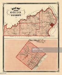Historic Map Works Indiana 1876 Ohio County Rising Sun City Indiana State Atlas Stock