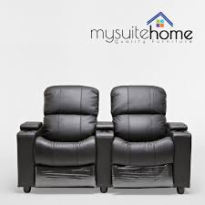 home theater recliner chairs sophie leather 2 seater home theatre recliner sofa lounge with cup