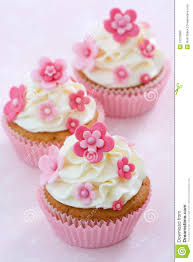 flower fondant cakes flower cupcakes stock photo image of baked line cream 12218880