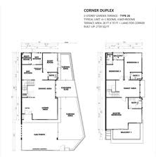 Corner Lot Duplex Plans 100 Floor Plans For Duplexes Duplex House Plan And
